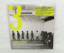 Super Junior SJ Vol.3 Sorry Taiwan CD+44P booklet (digipak) Factory-sealed