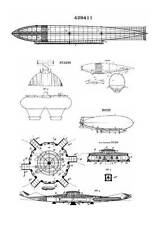 Zeppelin Airships Germany, 198 Patents, 1400 Pages