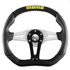 Momo Steering Wheel Trek 350mm Black Leather with alcantara - flat bottom