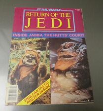 1983 STAR WARS Return Of The Jedi POSTER Magazine #2 Jabba The Hut Lucas Films