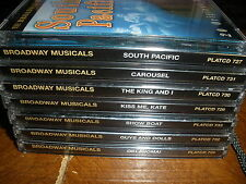 lot of 7 Broadway Musicals Series original recordings CDs NICE QUALITY MUSIC