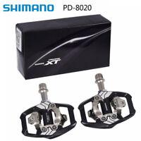 Shimano Deore XT PD-M8020 SPD Trail MTB Clipless Bike Pedals Set (w/cleats) ha