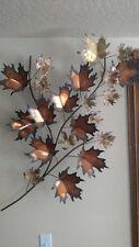 Curtis Jere : Maple Leaf Original Sculpture Wall Art brass : Signed 1971