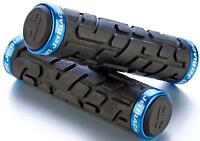 JetBlack Rivet MTB Locking Handlebar Grips Bike Lock-On Grip Jet BLACK/BLUE