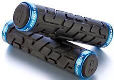JetBlack Rivet MTB Locking Handlebar Grips Bike Lock-On Grip Jet BLACK/BLUE