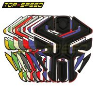 Motorcycle Rubber Modified Fuel Gas Tank Pad Protector Decal Sticker Universal