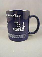 Vintage Conrail Railroad Ceramic Coffee Mug Operation Lifesaver Deep Blue