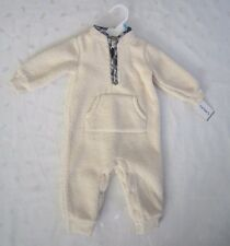 NWT carter's Long Sleeve Ivory Fur Fleece One Piece Suit ~ Size 6 Months