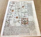 CARMARTHEN CARDIGAN ABERYSTWYTH  OWEN BOWEN MAP C1720 FROM BRITANNIA DEPICTA