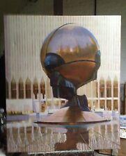 "ORIGINALE DENNIS syrett ""Golden Globe World Trade Center New York"" PITTURA AD OLIO"