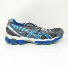 Asics Womens Gel Cumulus 14 T296N Gray Blue Running Shoes Lace Up Size 8.5
