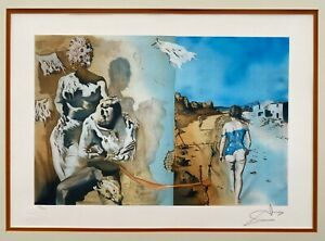 Salvador Dali Dreams Lithograph Signed LE 128/300 Framed