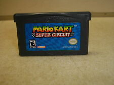 NINTENDO GAMEBOY ADVANCE MARIO KART SUPER CIRCUIT GAME CARTRIDGE ONLY