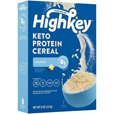 Highkey Keto Protein Breakfast Cereal - 0 Net Carb  Zero Sugar, Grain  Gluten