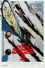 THE TEXAS CHAINSAW MASSACRE PART 2 (1986) ORIGINAL ROLLED VERSION B MOVIE POSTER