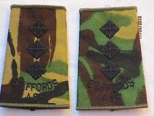 lineas de rango : Capitán, Staffordshire Regimiento, ACF , DPM, Stafford