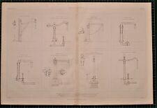 Locomotora de agua de impresión de 1855 grúas británico Ferrocarril Ellis Henderson Ransomes Sims