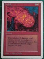 1X MTG MAGIC THE GATHERING FIREBALL UNLIMITED EDITION RED SORCERY COMMON NM
