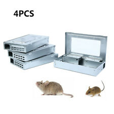 4Pcs Mouse Live Trap W/ Window Multi Catch Mice Mouse Trap Animal Live Capture