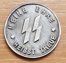 WW2 WWII German Elite coin SS Kampft Weiter 1 Schilling Kantine bar money