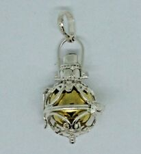 BALI HARMONY BALL MUSIC CHIME PENDANT IN STERLING 925 SILVER  #I11