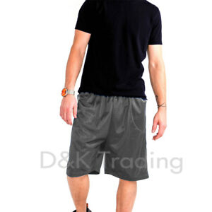 Men's Mesh Jersey Athletic Fitness Workout Colors Shorts 2 Pockets Size S~5XL