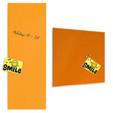 Tableau en verre aimanté inscriptible *2 tailles* memo pense-bête orange, feutre