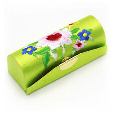 Women Lady Flower Brocade Retro Lipstick Case Holder Box with Mirror Fashion