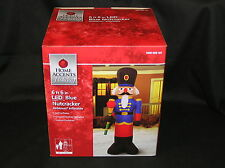 AIRBLOWN INFLATABLE 6 FT 6 IN LIGHTED LED BLUE NUTCRACKER TOY SOLDIER NYLON