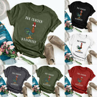 Womens Holiday Ladies Blouse Chicken Printed T Shirt Tee Sweatshirt Casual Tops