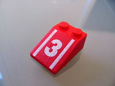 Lego 3298p56 @@ Slope 33 3 x 2 with Number 3 Pattern @@ 1665 1992 6381 6395