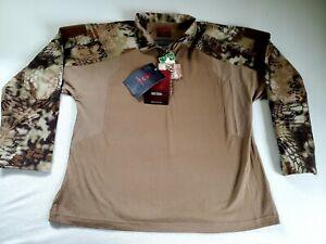 Kryptek Tactical Long Sleeve Quarter Zip Camo Shirt Highlander Men's XXL