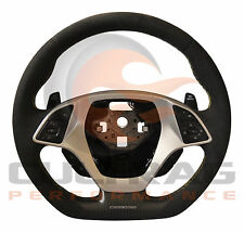 2016 C7 Corvette D Shaped Steering Wheel Manual Suede Yellow Stitching