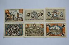 DORSTEN NOTGELD 50 PFENNIG, 1, 2x 2, 2x 3 MARK 1922 EMERGENCY MONEY GERMANY(6496