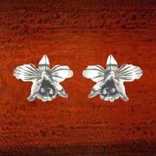 Sterling Silver Orchid Stud Earrings - SE215