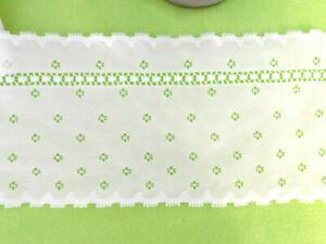 10 m weiße breite Borte Spitze ca. 10 cm breit