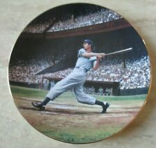 Vintage 1993 Joe Dimaggio Limited Edition Plate The Streak Great Moment Baseball