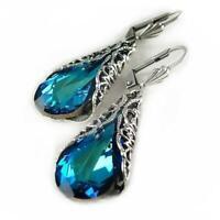 sapphire ohrringe blauer edelstein - ohr - hengst zappeln mode - schmuck