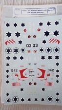 SUPERSCALE 1/72 DECALS ISRAELI A.F. MOSQUITO, MIRAGE, HUEY, MUSTANG + # 72-105