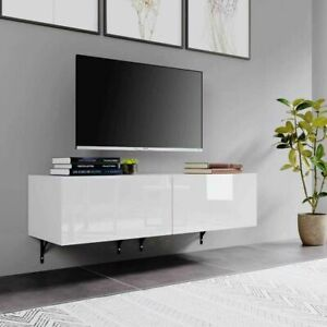 High Gloss TV Stand Entertainment Cabinet 10-180cm Floating Wall Mounted TV Unit