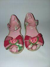 Crazy 8 2012 Watermelon Summer Red Green Plaid Sandals Toddler Girl Sz 6 Veuc
