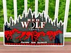Vintage Red Wolf Lager Follow Your Instincts Metal Tin Beer Sign Anheuser Busch
