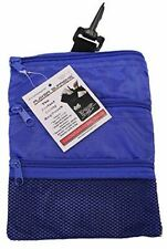 Jp Lann Golf Multi-Pocket Tote Hand Bag and Valuables Pouch - Blue