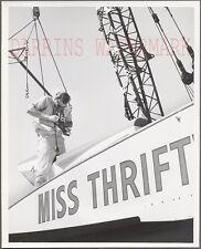 Vintage Photo Man w/ Camera Miss Thriftway Hydroplane Racing Seafair 749043