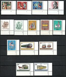 Berlin Lot Zuschlagsmarken mit Plattennummern (988)