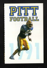 1991 Pittsburgh Panthers Football Schedule--KBL Sports Network