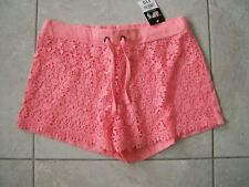 NEW - PEACH LACE FRONT SHORTS SIZE 12 BNWT