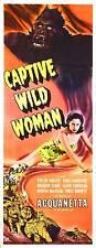 CAPTIVE WILD WOMAN Movie POSTER 14x36 Insert John Carradine Milburn Stone Evelyn