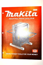 MAKITA INDUSTRIAL TRADE CATALOG MC-0280 RR586 Drill Grinder Planer Bandsaw Saw