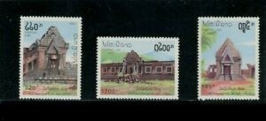 Laos 1082-1084, MNH. That Luang Temple, 1992. x33797
